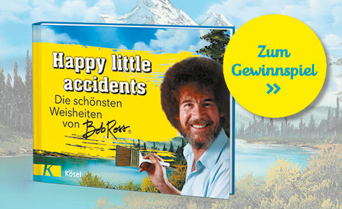 "Weisheiten und Bilder von Bob Ross in ""Happy little accidents"""