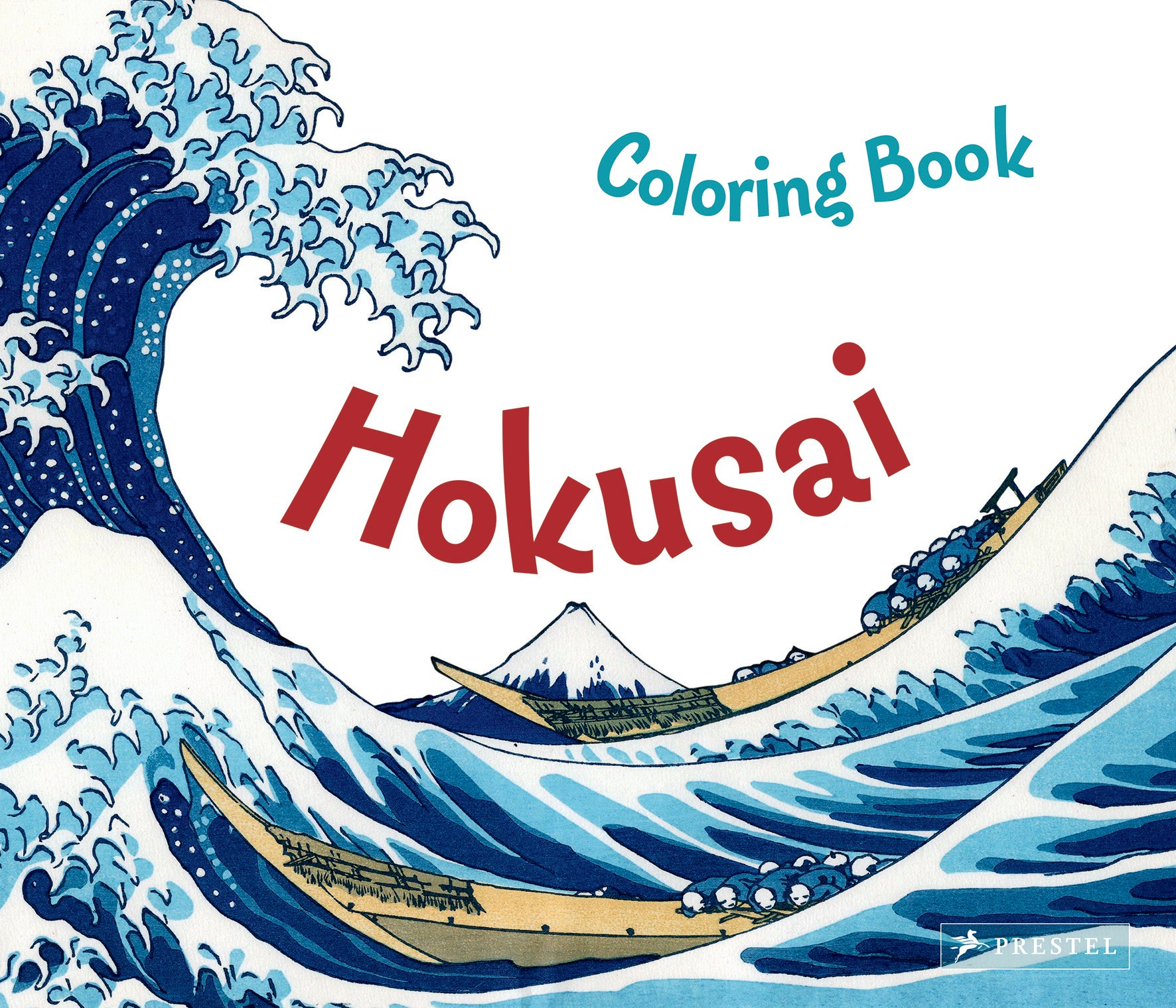 Maria krause hokusai coloring book prestel publishing for The great wave coloring page